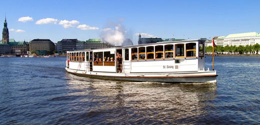 With the St. Georg (1876) across the Alster.